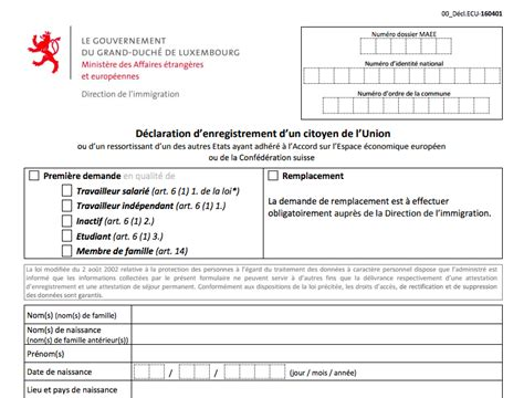 bureau des non r駸idents luxembourg comment devenir r 233 sident luxembourgeois placer