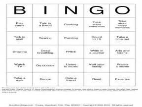 Printable Bingo Cards Coping Skills Worksheets