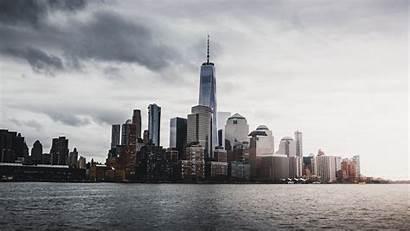York Skyscrapers Usa Panorama 4k Background 1080p