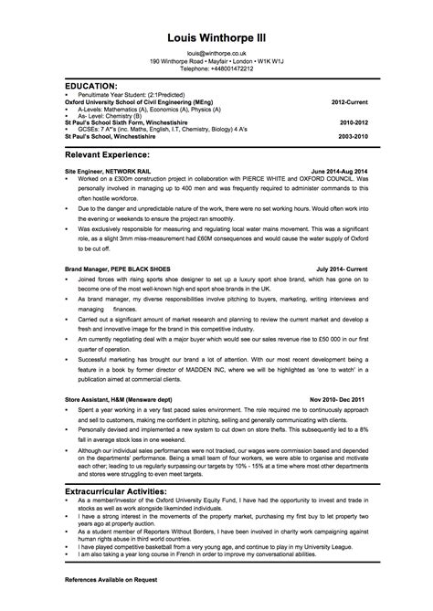 resume coaching feedback inside investment banking