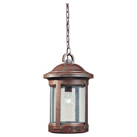 home depot outdoor hanging lights sea gull lighting herrington 1 light black outdoor hanging