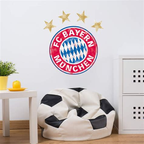 Used Look Wand by Fc Bayern M 252 Nchen Logo Used Look Originale Fcb