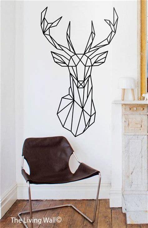 geometric deer head wall decals geometric animal