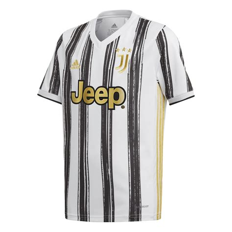 Adidas Juventus Home Junior Short Sleeve Jersey 2020/2021 ...