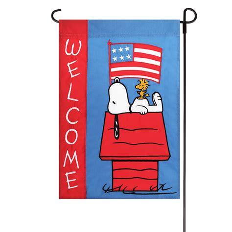 Patriotic Garden Flags by Patriotic Peanuts Welcome Embroidered Applique Garden