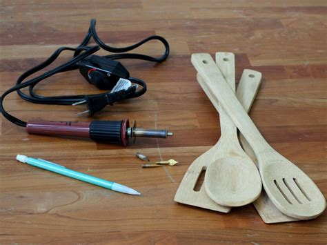 kitchen utensil design diy wood burned kitchen utensils hgtv 3419