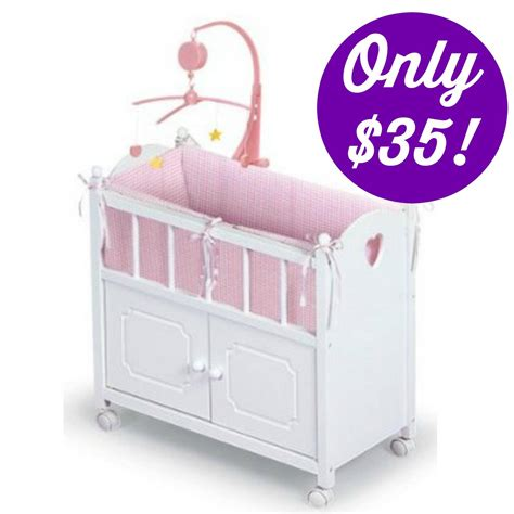 american doll crib american doll crib with cabinet bedding and mobile