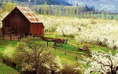 Farm Spring Desktop Wallpapers Backgrounds Farmhouse Background