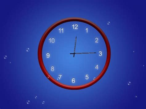 horloge bureau windows 7 screenshot review downloads of demo abstract clock