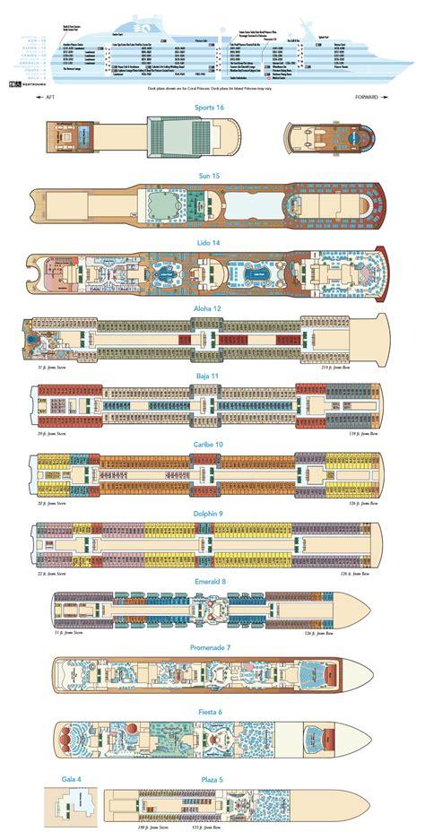 Island Princess Deck Plans Ships by Deck Layout Island Princess Aussie Cruising