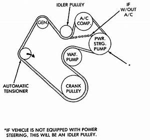 I Need A Picture Of A Serpentine Belt Diagram For A 1999