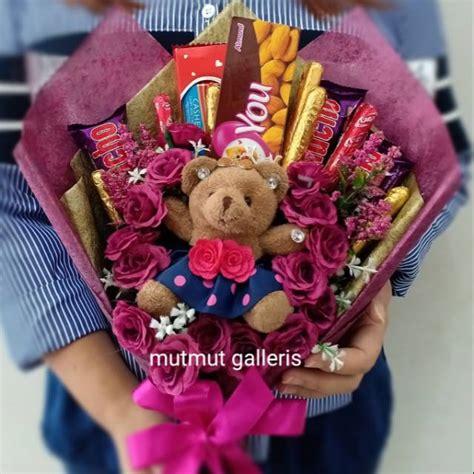 buket bunga coklat boneka bandung murah unik teddy bear