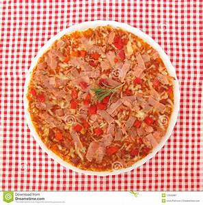 Pizza On Table With Fork And Knife Full Frame Stock Image