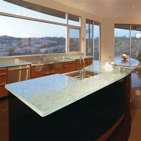glass top kitchen island 64 best unique glass kitchen counter and island tops
