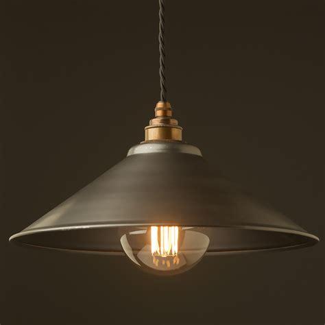 rustic steel light shade mm pendant