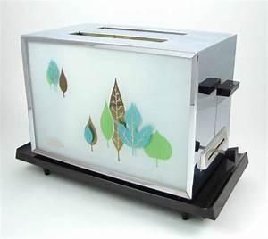 Toaster Retro Design : vintage 1960s sunbeam at a toaster chrome glass mid century modern leaves works toasters mid ~ Frokenaadalensverden.com Haus und Dekorationen