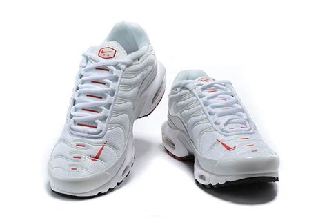 nike air max  white red double swoosh running shoes