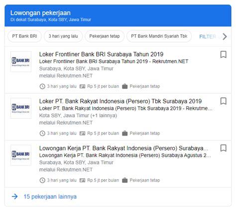 Bersedia ditempatan di seluruh unit kerja supervisi surabaya. Cepat - Lowongan Kerja BANK BRI Surabaya 2020 Terbaru ...