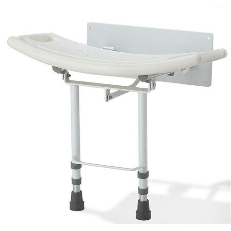 Wall Mounted Folding Shower Seat With Legs - wall mounted folding fold shower seat chair