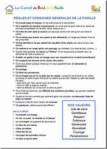 Regle De Vie A La Maison : carnet de bord de la famille matrice 4 r gles et ~ Dailycaller-alerts.com Idées de Décoration