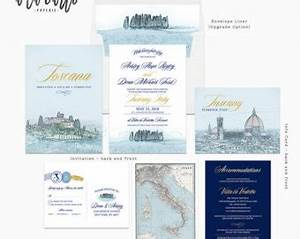 custom luxurious illustrated wedding by alacartepaperie on With european destination wedding invitations