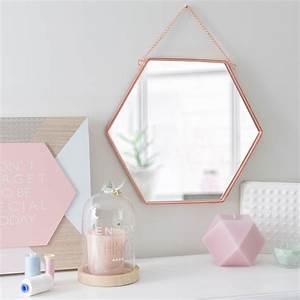 Miroir Cuivre Rose : miroir en m tal cuivr h 31 cm hexagonal copper maison du monde d coration pinterest ~ Melissatoandfro.com Idées de Décoration