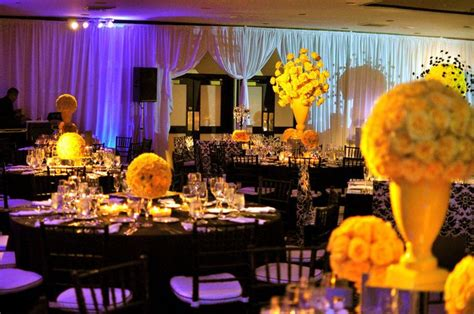white and yellow wedding decorations black and yellow