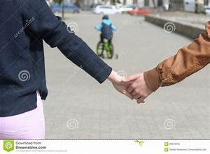 Closeup Portrait. Boy And Girl Holding Hands. Stock Photo ...