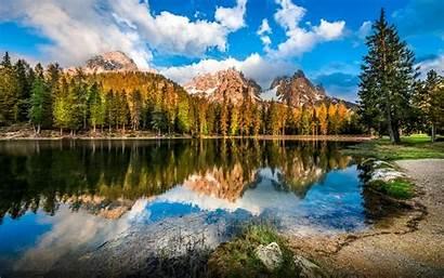 Mountain Desktop Rocky Italy Lake Backgrounds Dolomites