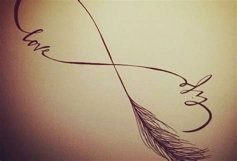 infinity drawing life love feather designs