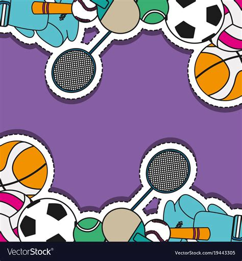 Sports Background Designs by Sport Sticker Patch Background Design Royalty Free Vector