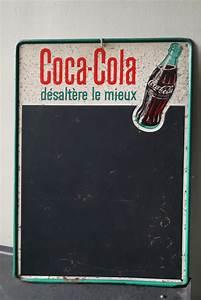 Plaque Publicitaire Métal : plaque publicitaire ardoise metal coca cola dans son jus ~ Teatrodelosmanantiales.com Idées de Décoration
