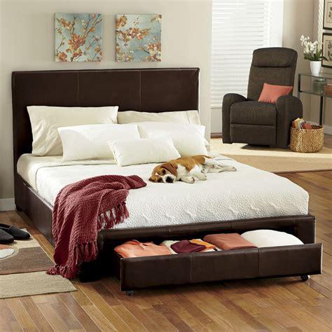 platform bed  drawer storage midnight velvet