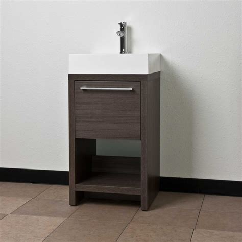 """20"""" Bathroom Vanity Set Grey Oak Tn L500 Go Contemporary"""