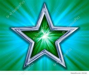 Star On Green Background  Star
