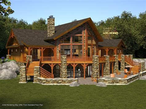 cabin designs and floor plans golden eagle log and timber homes floor plan details