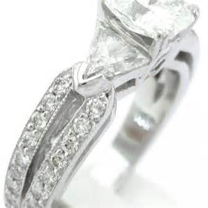 triangle engagement ring radiant triangle and engagement ring 2 00ct knrinc jewelry on artfire