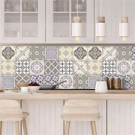 stickers carrelage mural cuisine 9 stickers carreaux de ciment chêtre et design