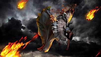 Fire Wings Angels Falling Fantasy Angel 1080