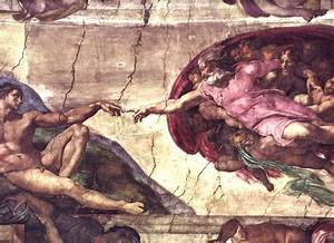 Michelangelo Buonarroti Creation of Adam detail Painting ...