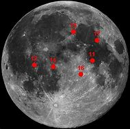 Apollo Moon Landing Sites Map