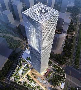 Work is completed on SOM's 268m glass tower in Nanchang ...