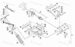 Arctic Cat Side By Side 2015 Oem Parts Diagram For Rear