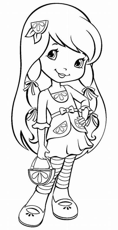 Coloring Pages Lemon Strawberry Sheets Shortcake Cartoon