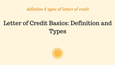 letter  credit basics definition  types
