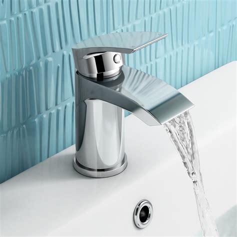 modern chrome small mono basin mixer tap designer bathroom
