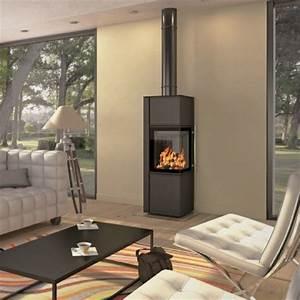 Poele A Granules Design Contemporain : po le bois d 39 angle design montana montana po le bois ~ Premium-room.com Idées de Décoration