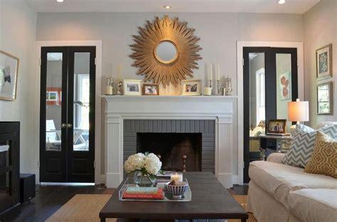 sunburst mirror  fireplace fireplace pinterest