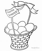 Easter Coloring Pages Basket Printable Baskets Bunny Eggs Template Colouring Sheets Egg Templates Printables Printing Fun Quotes Colors Fancy Help sketch template