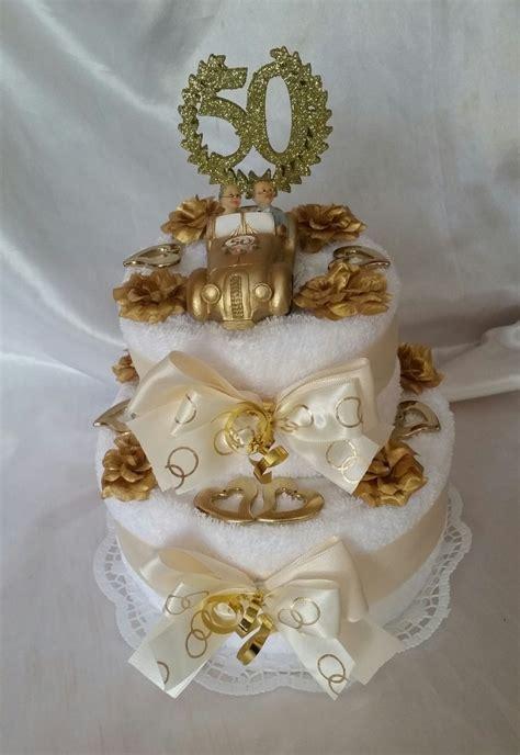 goldene hochzeit handtuchtorte brautauto